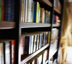Bookcase --- Image by © Brooke Fasani/Corbis